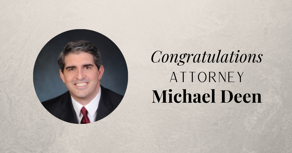 Congratulations Michael Deen