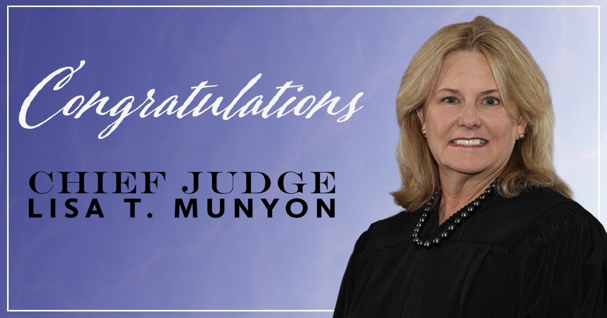 Congratulations Chief Judge Munyon