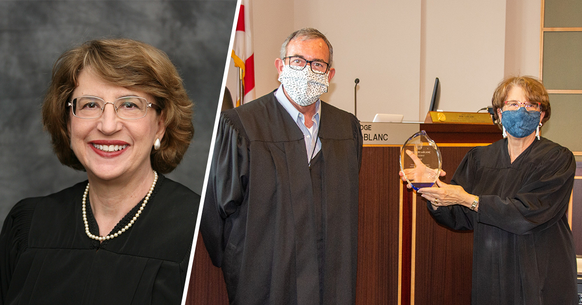 Judge Schreiber Becomes President of the George C. Young American Inn of Court, Honors Outgoing President, Judge LeBlanc with Award