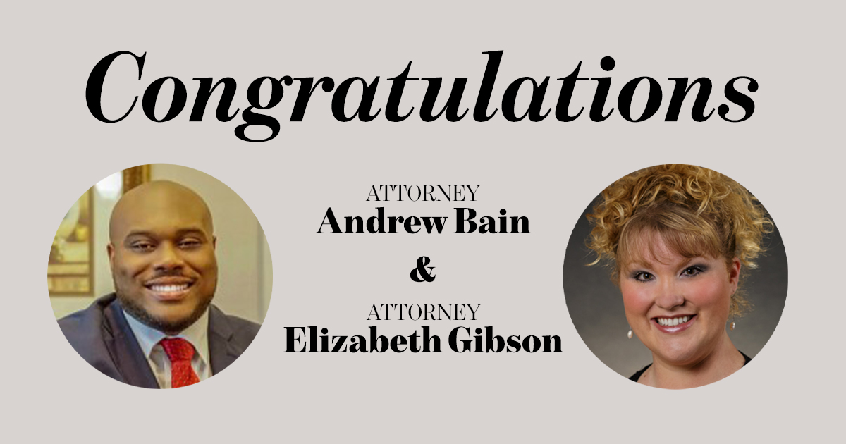 Governor Ron DeSantis has appointed attorneys Andrew Bain and Elizabeth Gibson to the Orange County Bench of the Ninth Circuit.