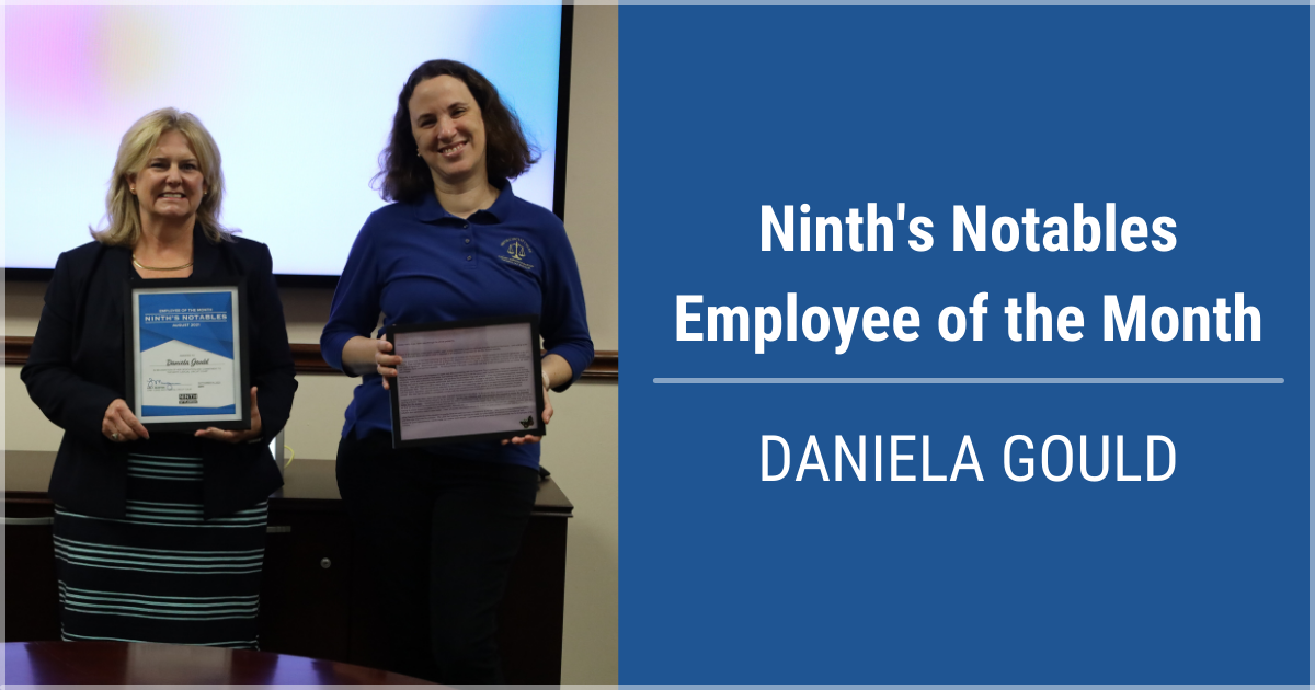 Ninth's Notables Employee of the Month