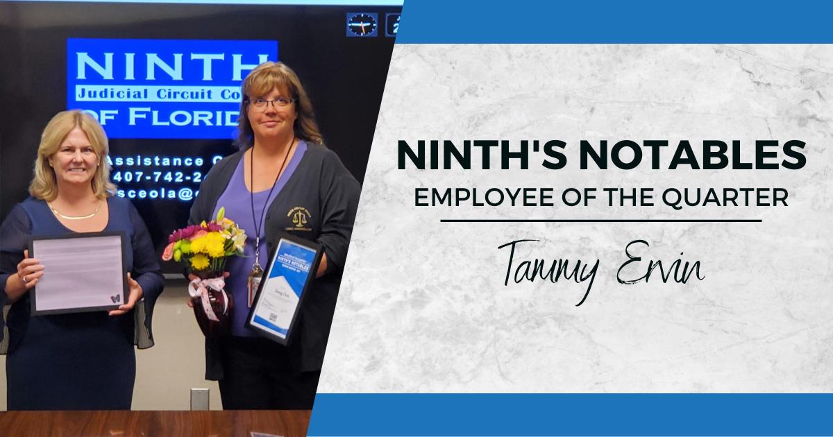 Ninth's Notables Tammy Ervin