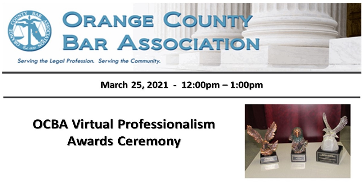 OCBA VIRTUAL PROFESSIONALISM AWARDS CEREMONY
