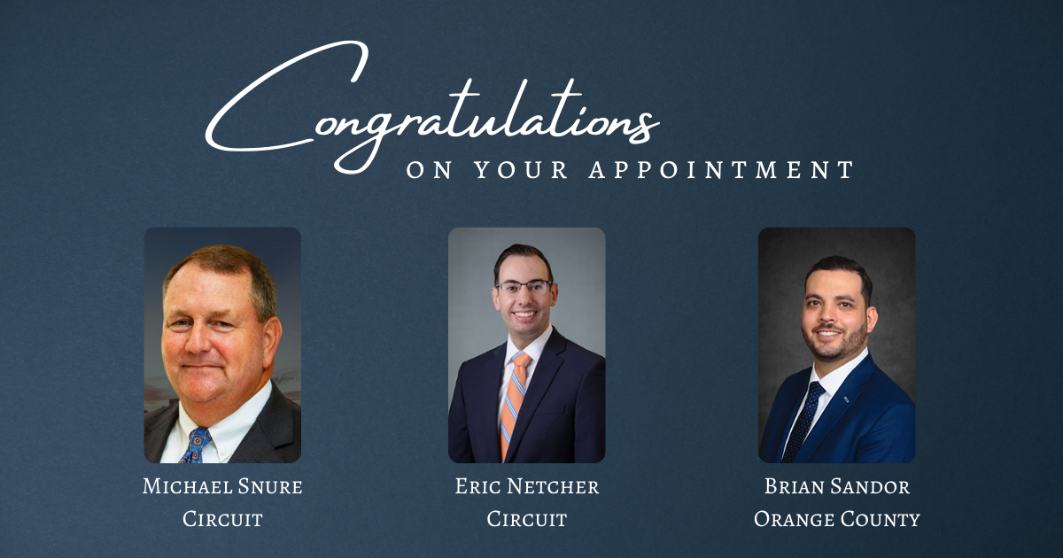 Three Judicial Appointments