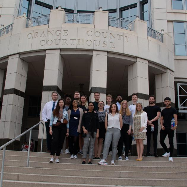 Law students from Leicester, England visit the Ninth Circuit