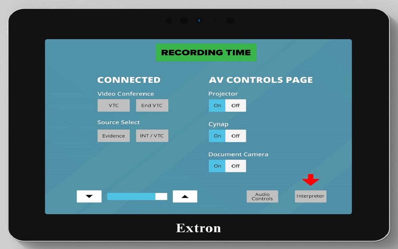 Virtual Remote Interpreting - On-demand interpreter request touch screen